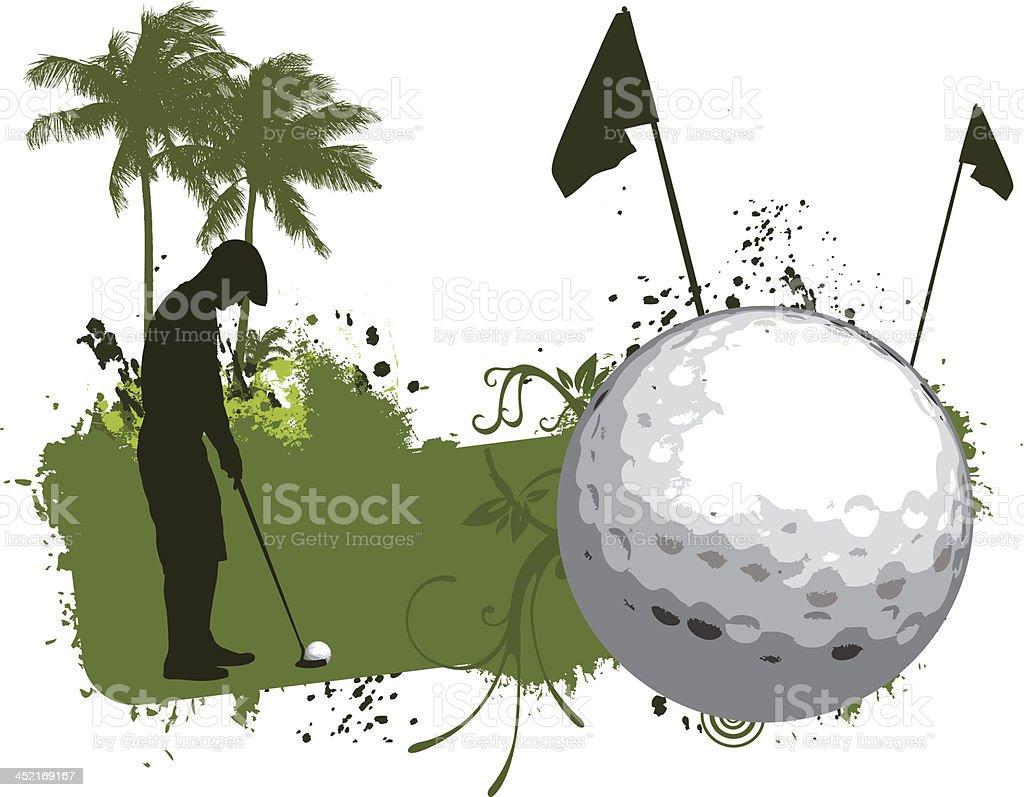 Golf grunge banner royalty-free stock vector art