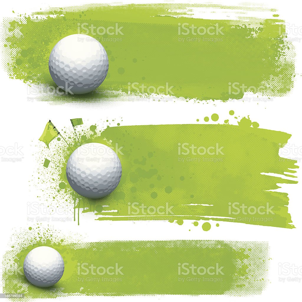 Golf grunge banners royalty-free stock vector art