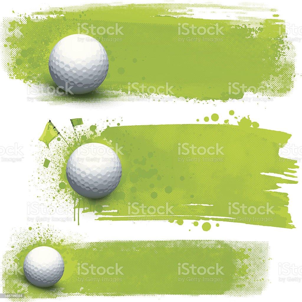 Golf grunge banners vector art illustration