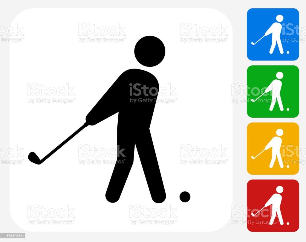 Golf Icon Flat Graphic Design vector art illustration