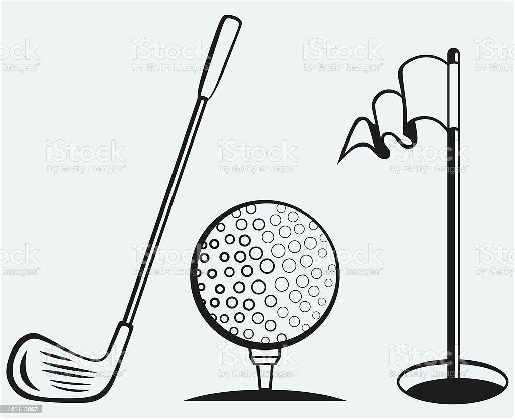 Golf icon set royalty-free stock vector art