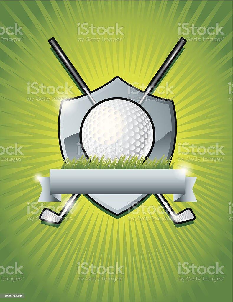 Golf Icon Shield royalty-free stock vector art