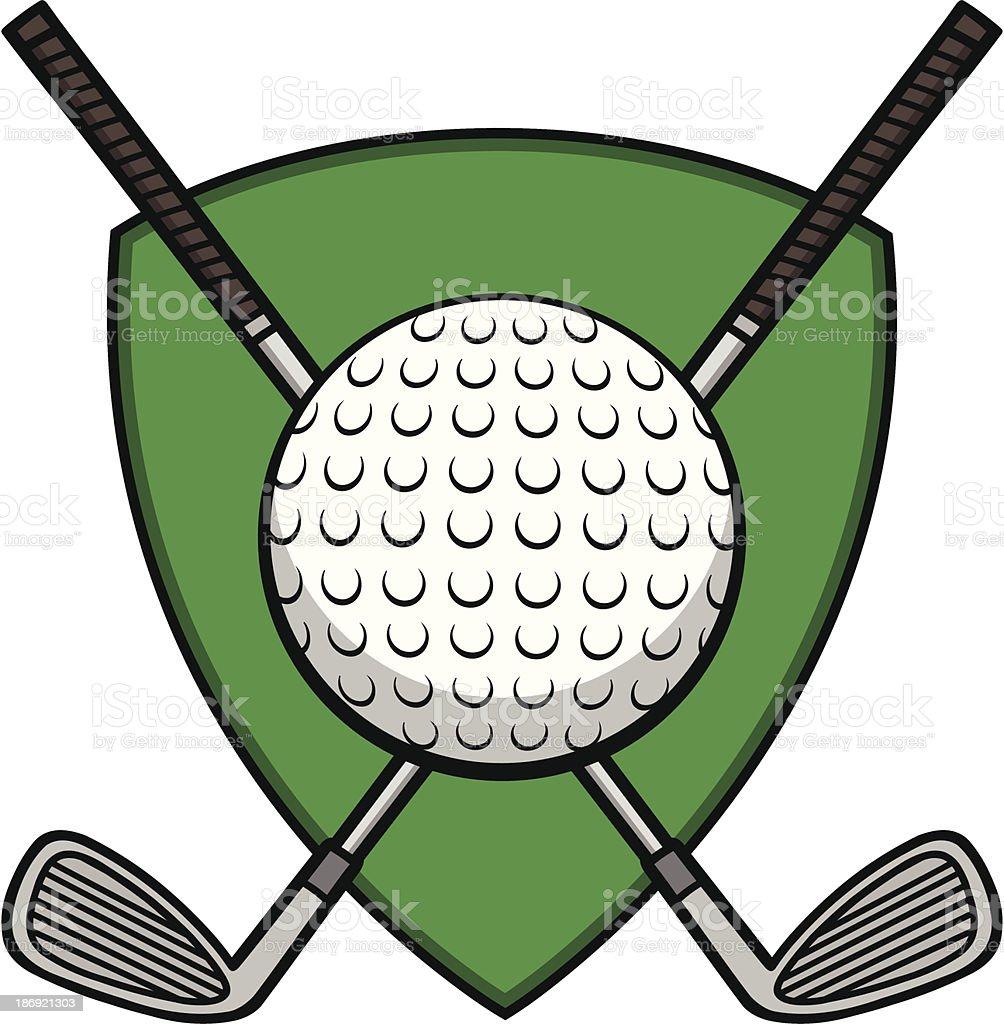 Golf Insignia vector art illustration