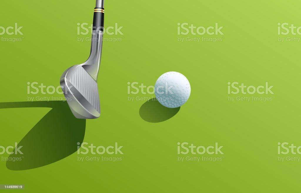 Golf iron shot vector art illustration