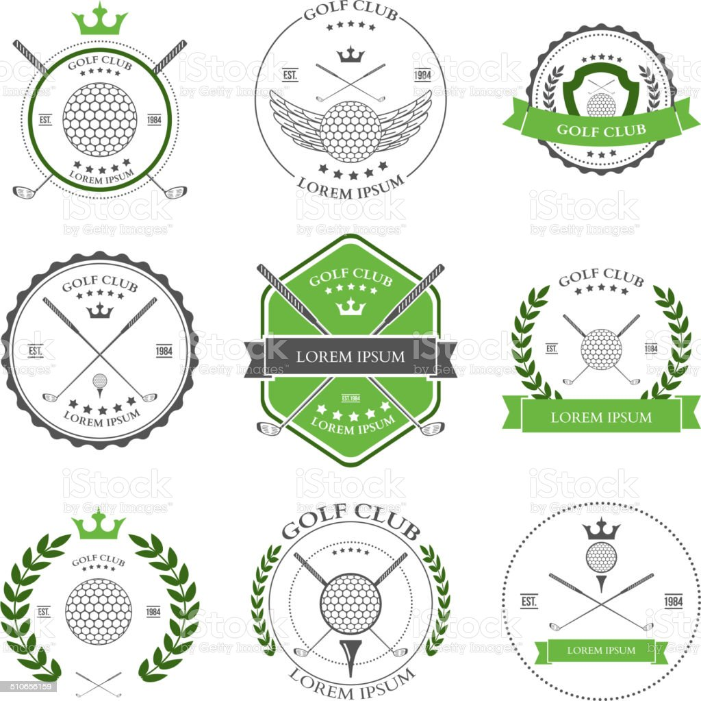 Golf labels and icons set. Vector vector art illustration