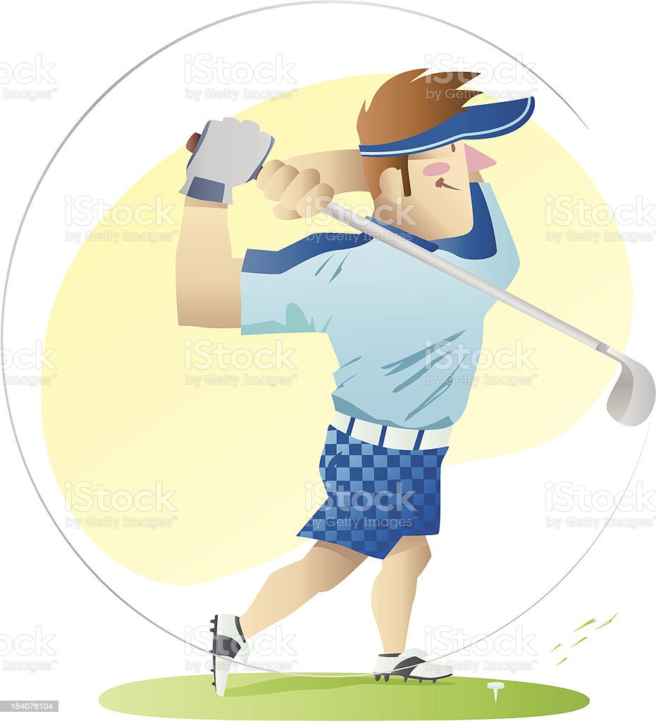 Golf Player Illustration royalty-free stock vector art