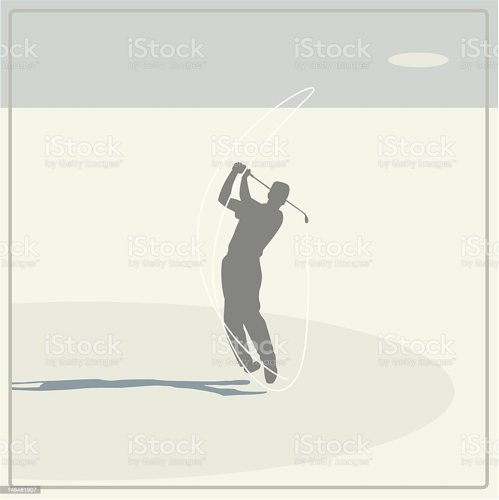 golf player swinging royalty-free stock vector art