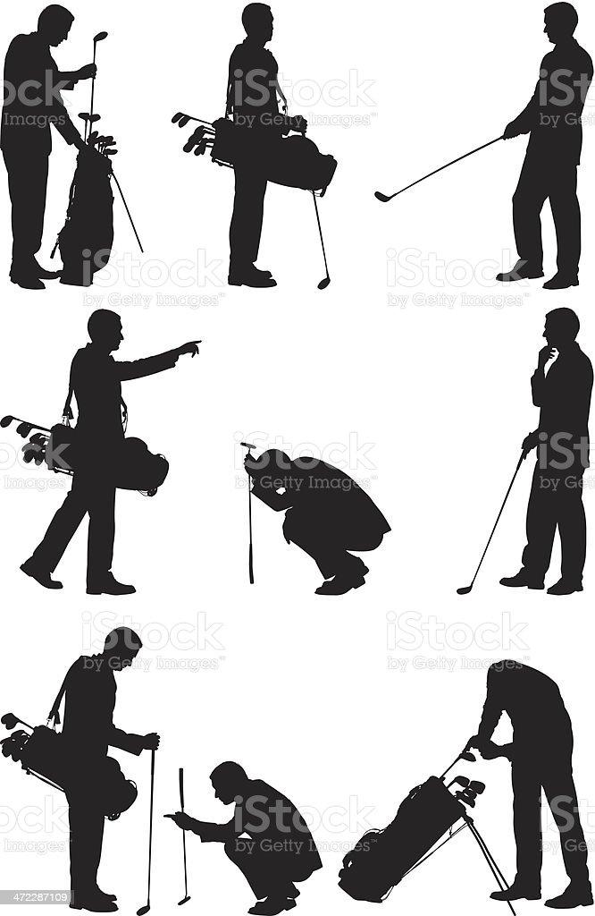 Golf player royalty-free stock vector art