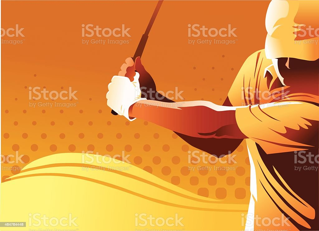 Golf Player With Copy Space vector art illustration