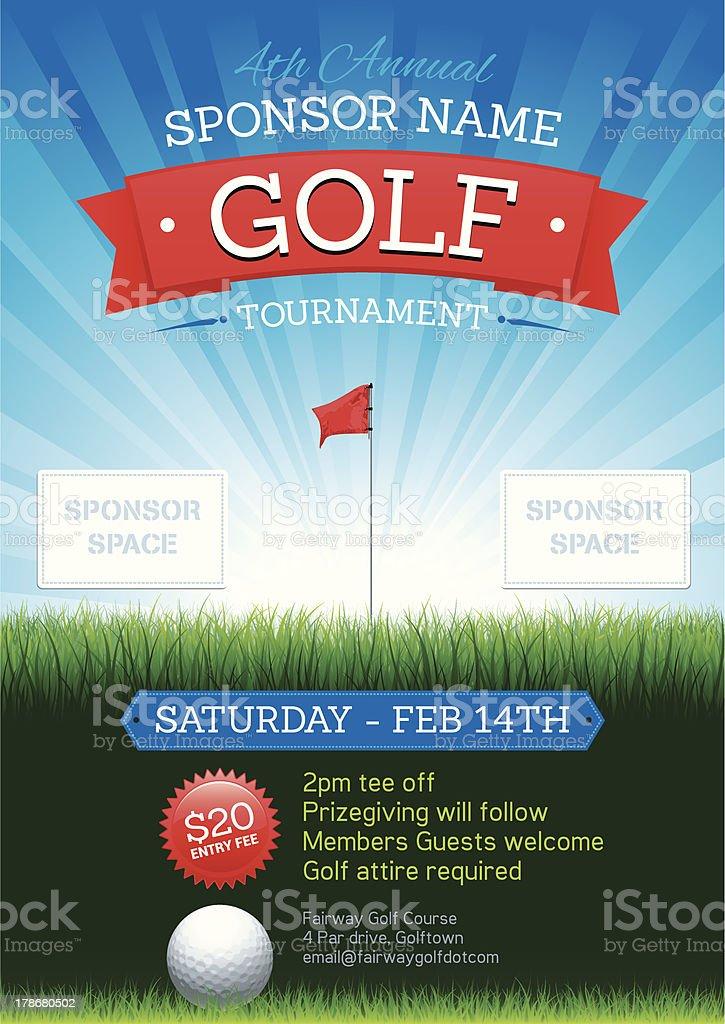 Golf poster royalty-free stock vector art