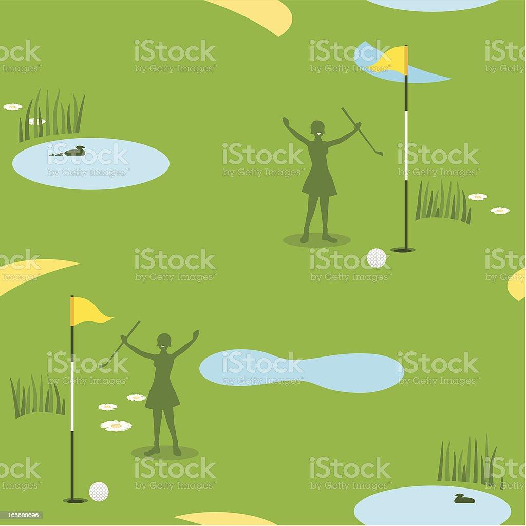 Golf Seamless Pattern Female royalty-free stock vector art