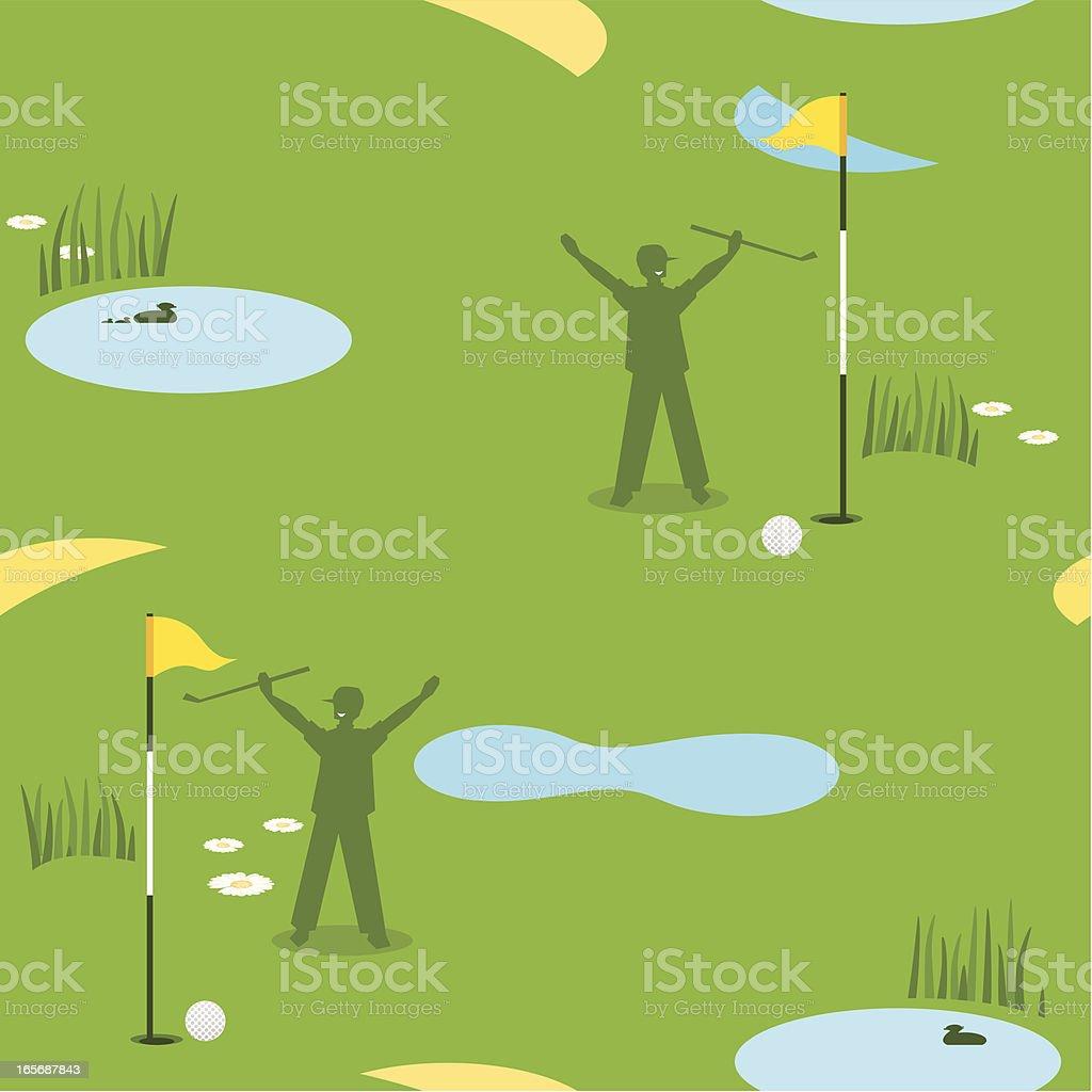 Golf Seamless Pattern Male royalty-free stock vector art