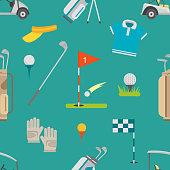 Golf seamless pattern vector
