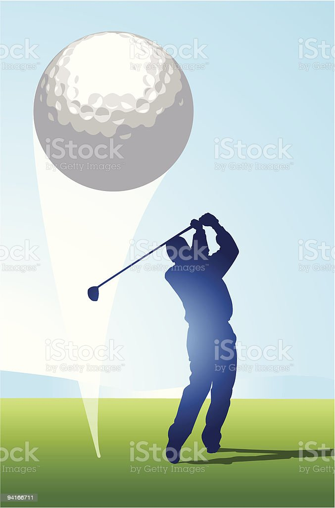Golf Shot royalty-free stock vector art