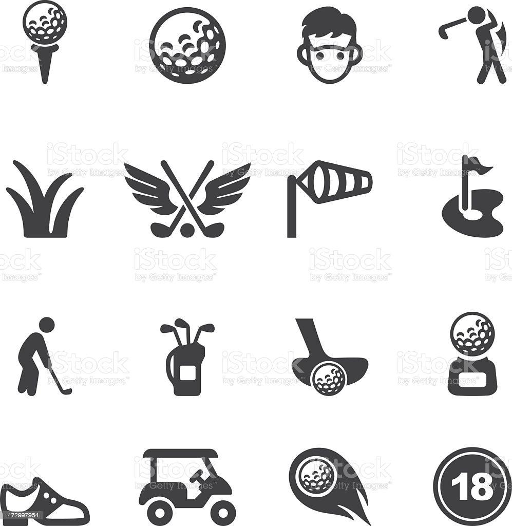 Golf Silhouette icons | EPS10 vector art illustration