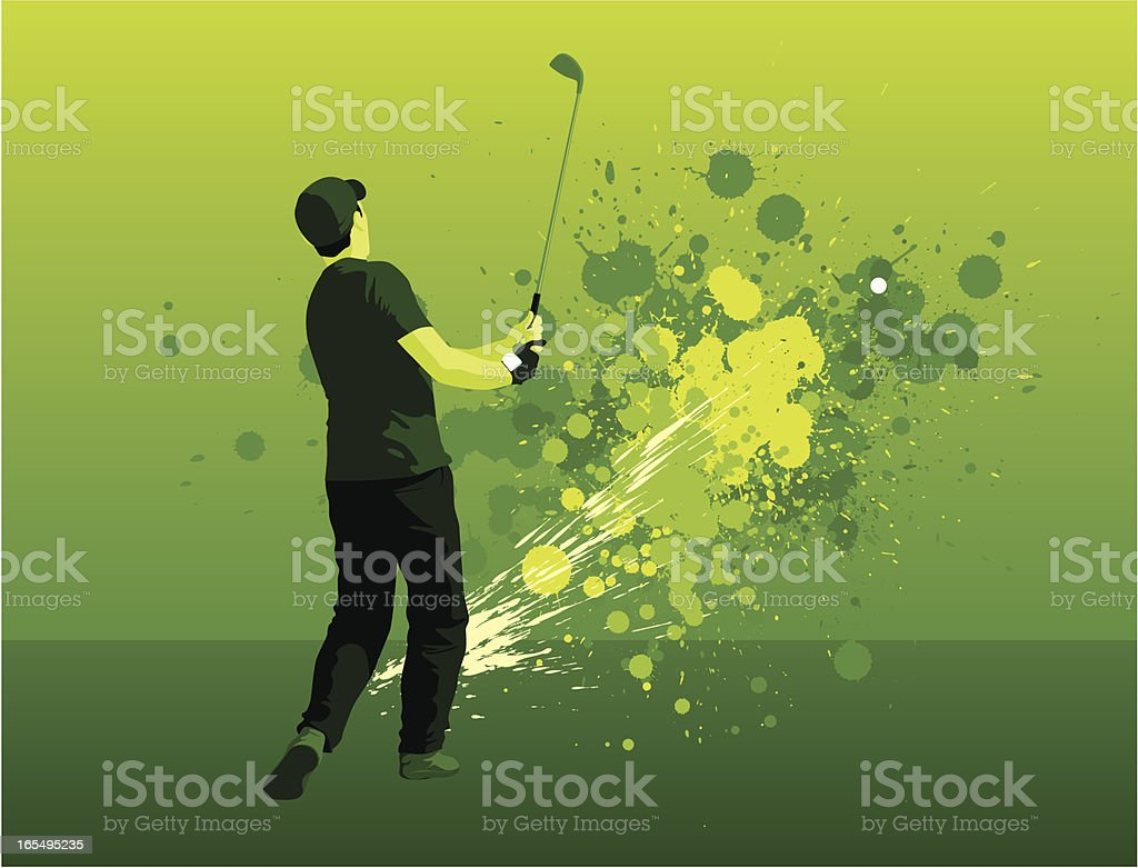 Golf splatter royalty-free stock vector art