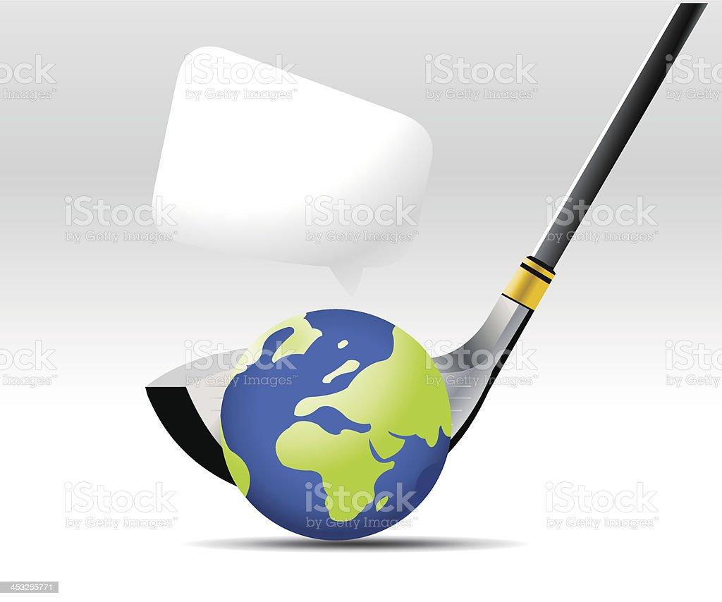 Golf Sport vector art illustration