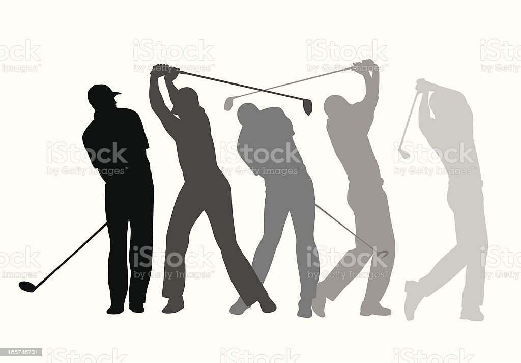 Golf Steps Vector Silhouette royalty-free stock vector art