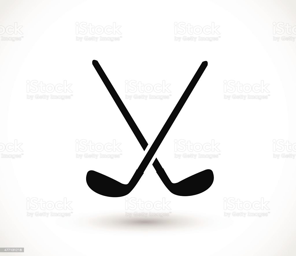 Golf sticks crossed icon vector illustration vector art illustration