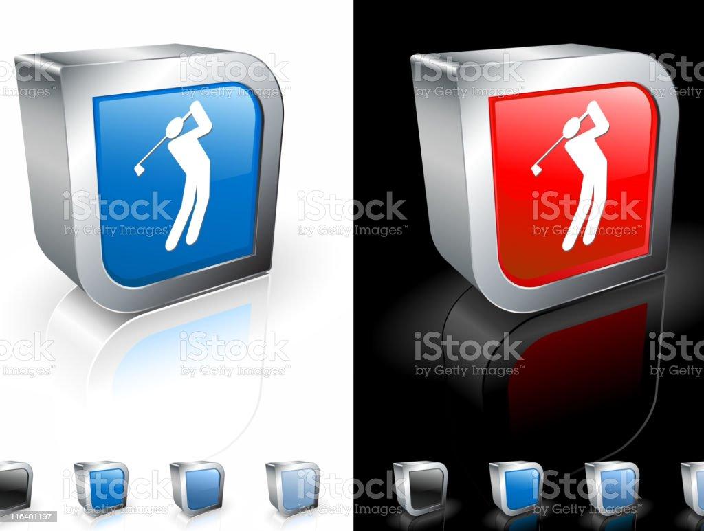 golf swing square royalty free vector art royalty-free stock vector art