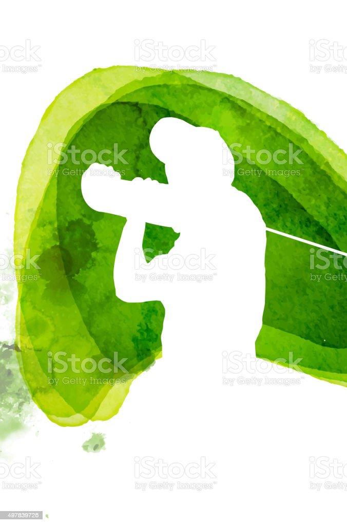 Golf Symbol vector art illustration