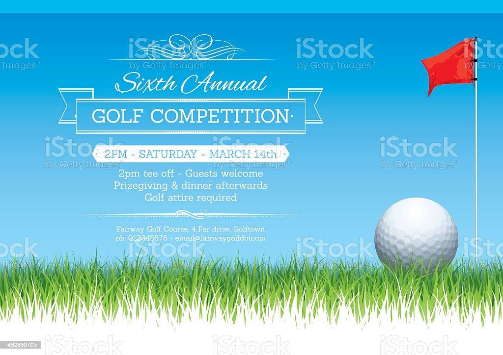 Golf tournament poster royalty-free stock vector art