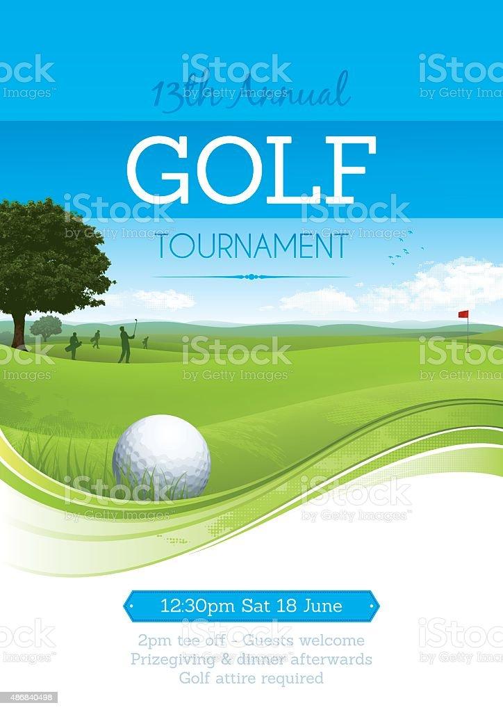 Golf tournament poster vector art illustration