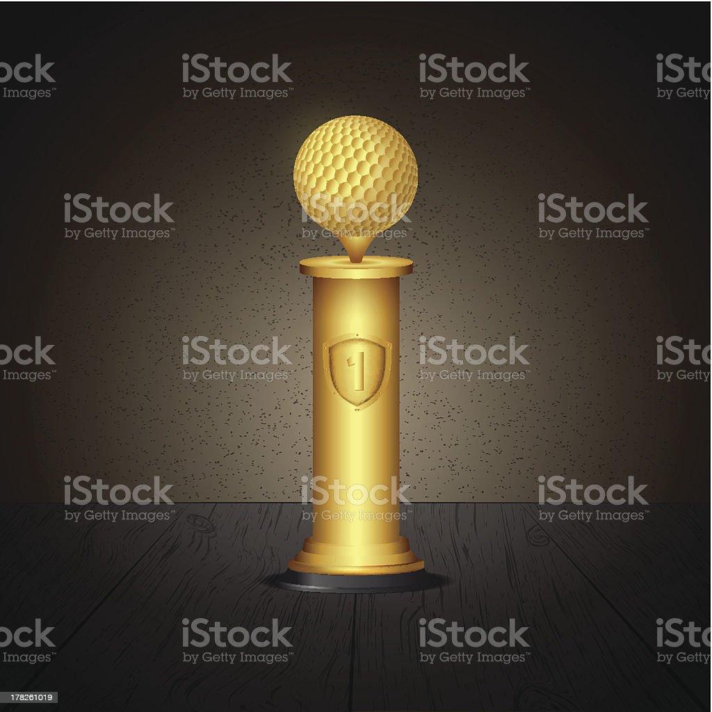 Golf trophy royalty-free stock vector art