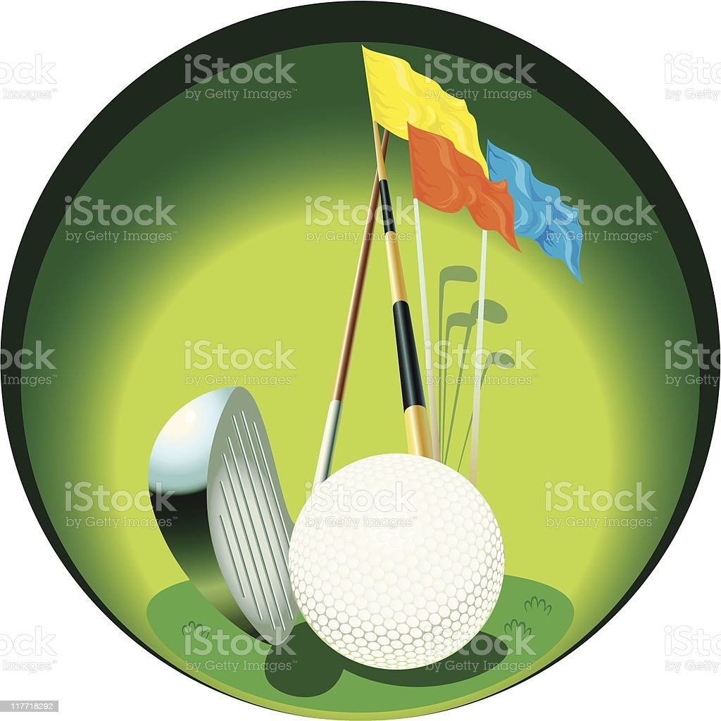 golf royalty-free stock vector art