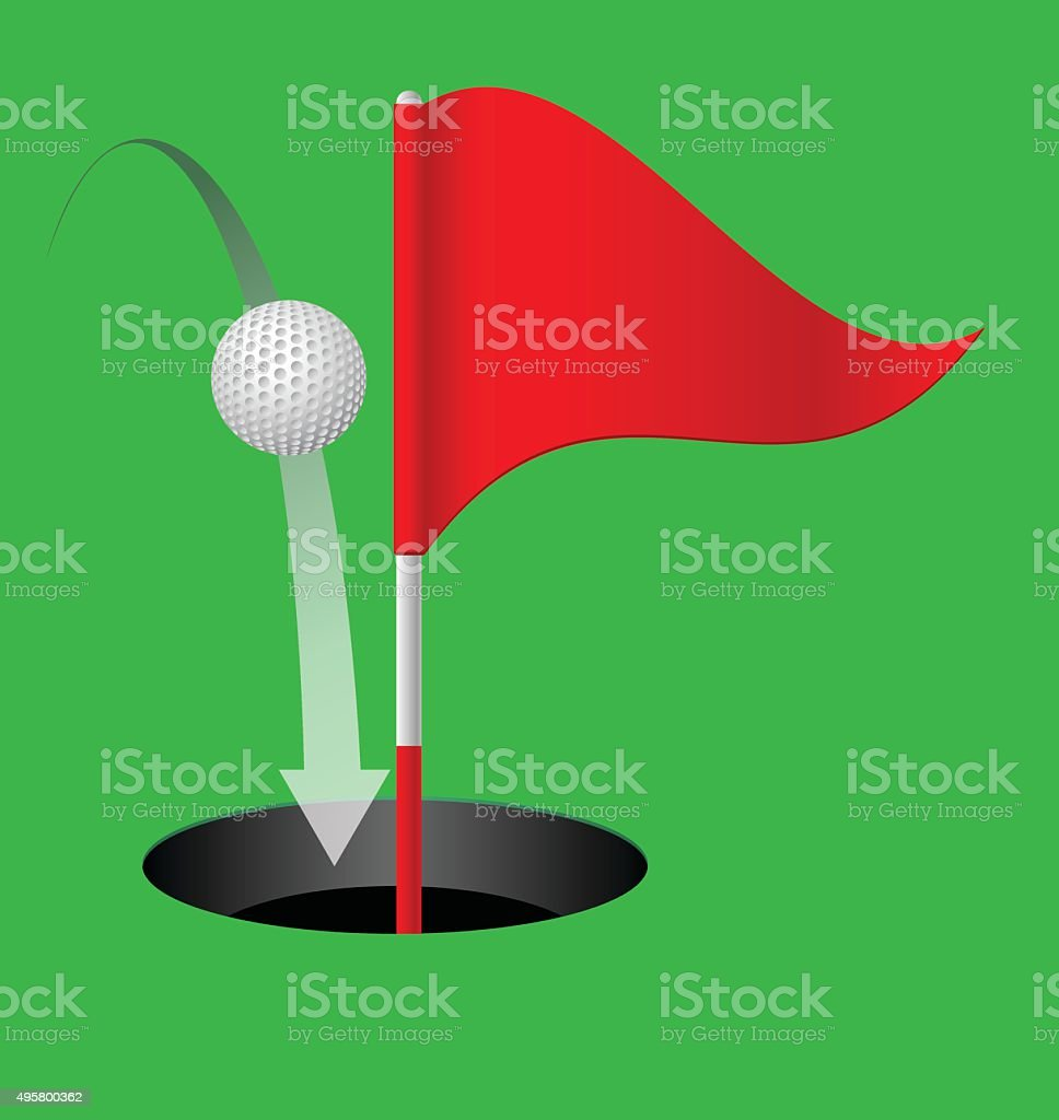 Golf. vector art illustration