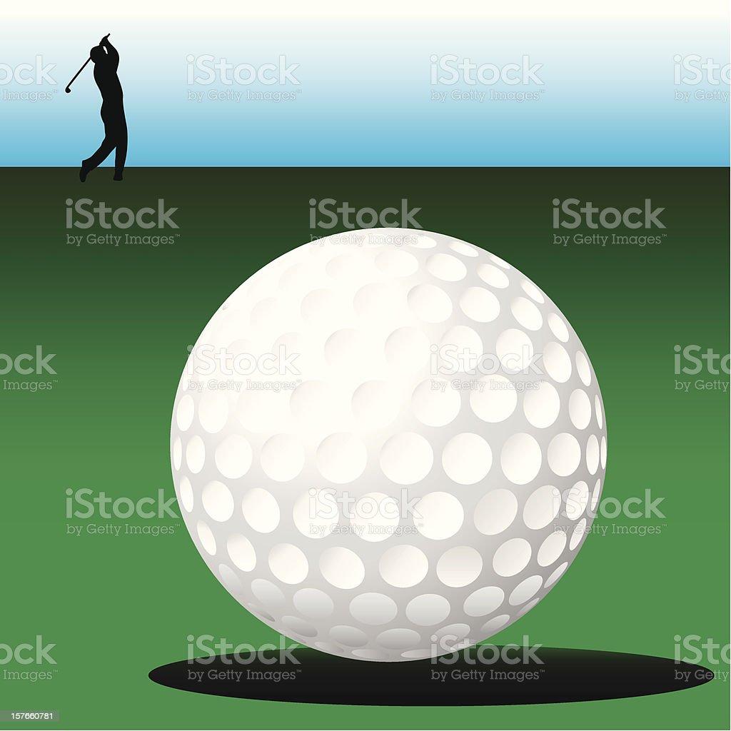 Golf - Vector royalty-free stock vector art