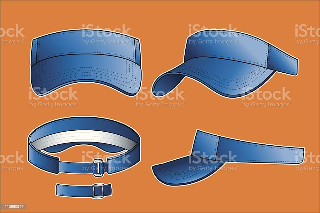 Golf Visor royalty-free stock vector art