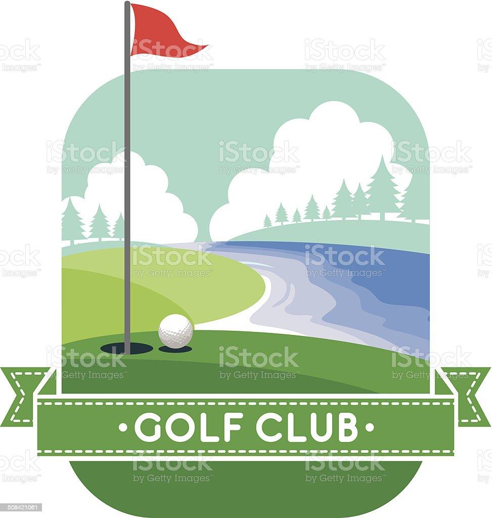 golf yard vector art illustration