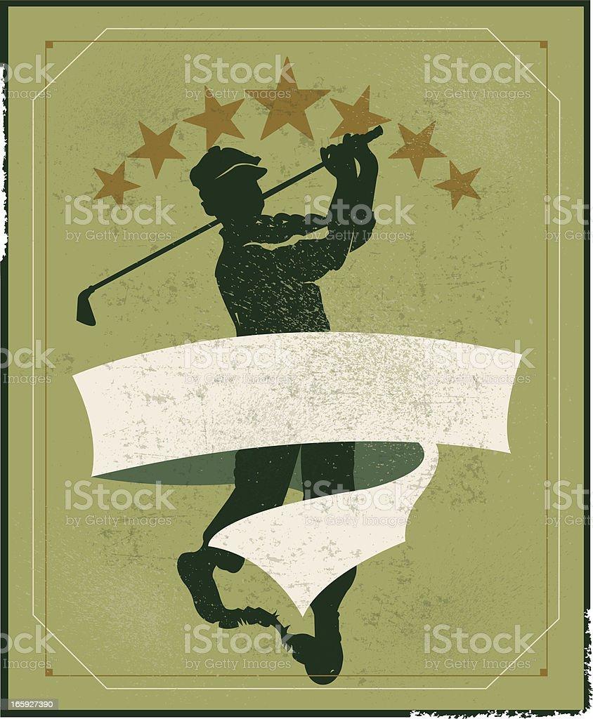 Golfer Banner Background - Retro royalty-free stock vector art