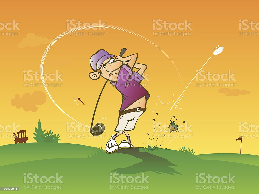 Golfer making a complete swing royalty-free stock vector art