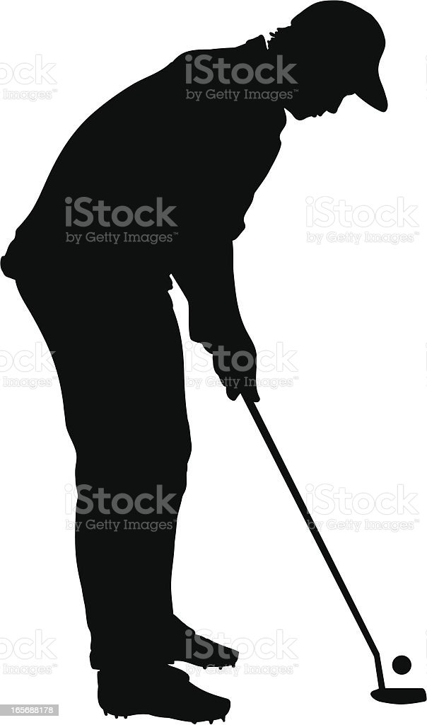 Golfer Putting royalty-free stock vector art