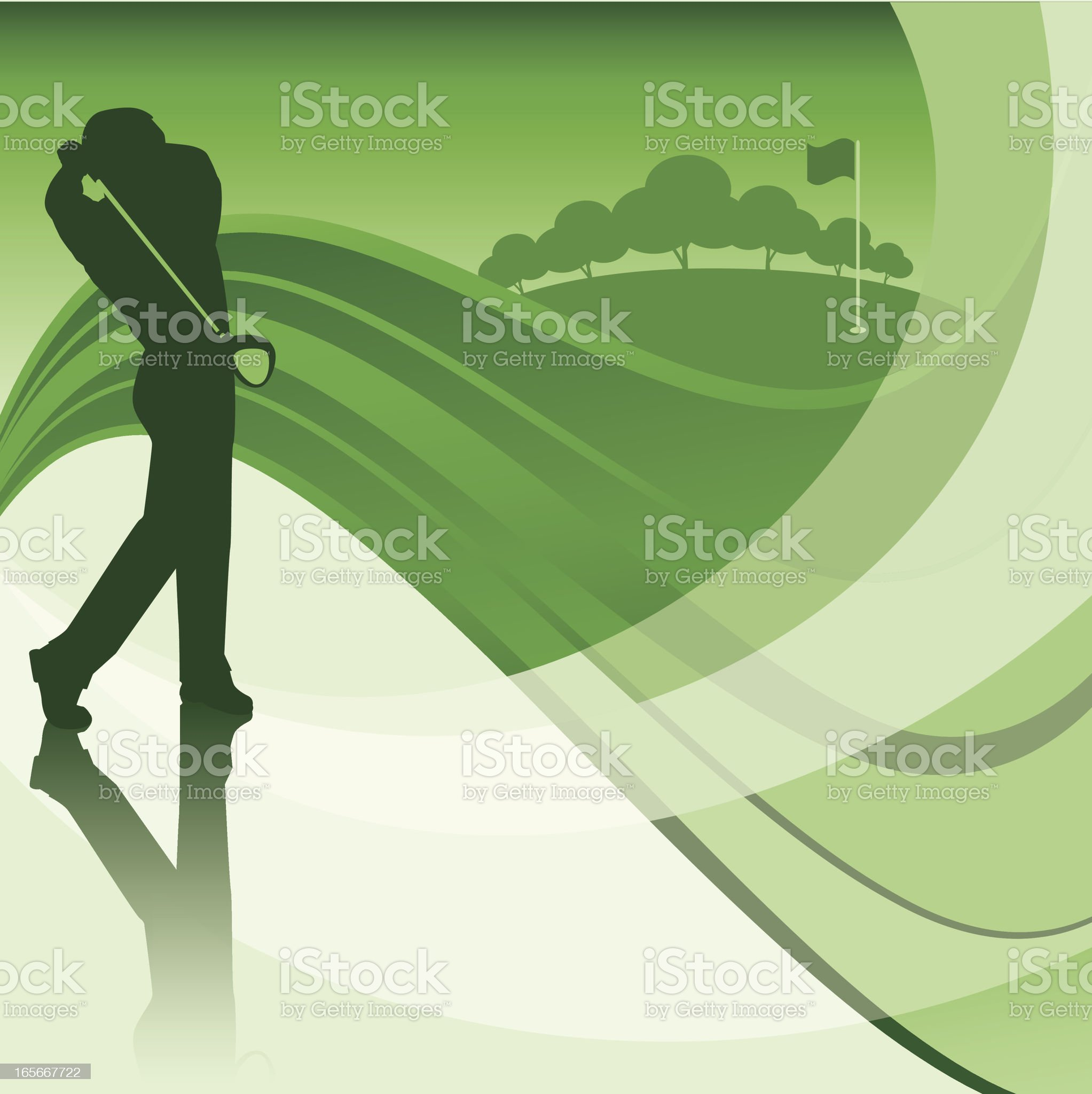 golfer swinging background royalty-free stock vector art