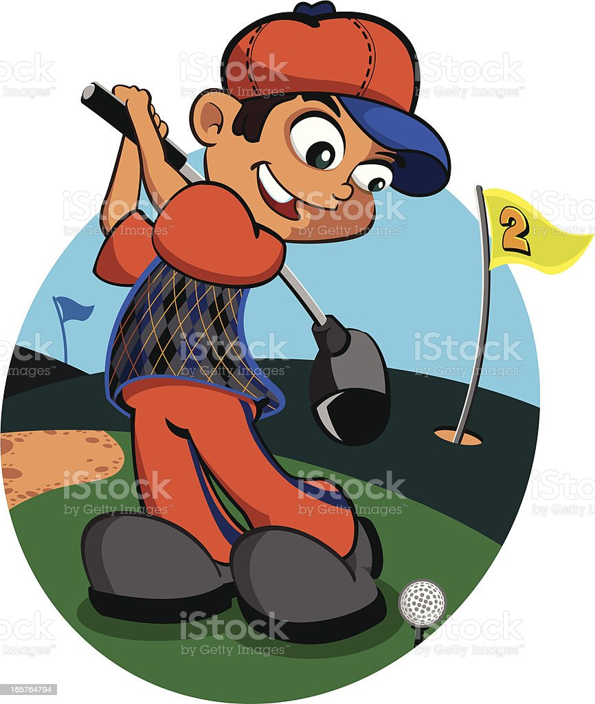 Golfer vector art illustration