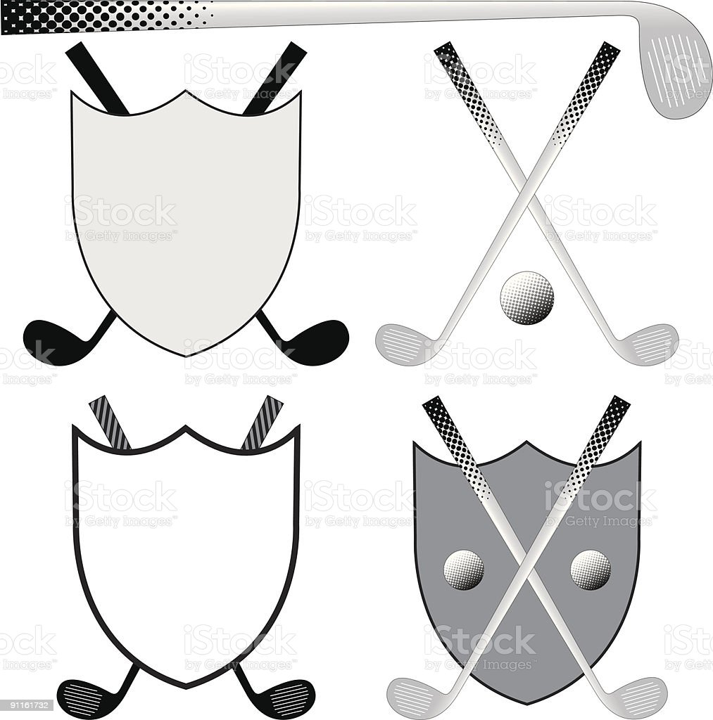 Golfing Elements royalty-free stock vector art
