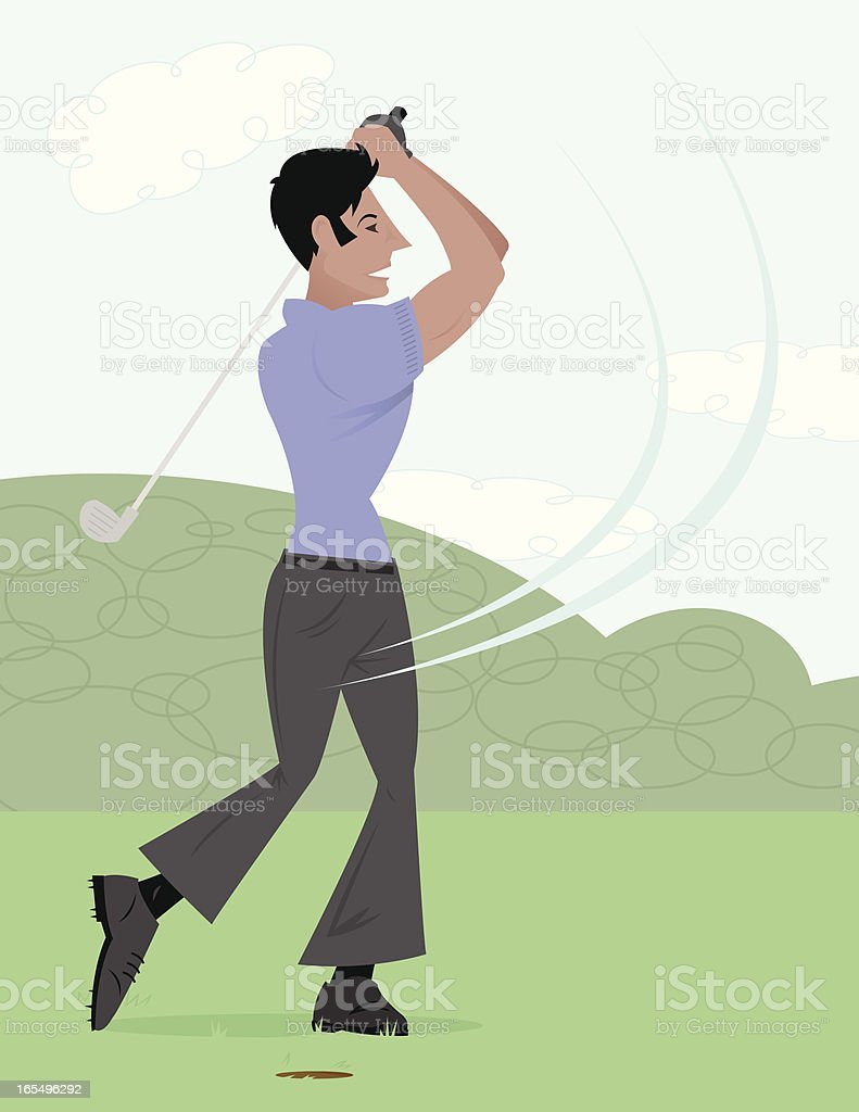 Golfing Guy royalty-free stock vector art
