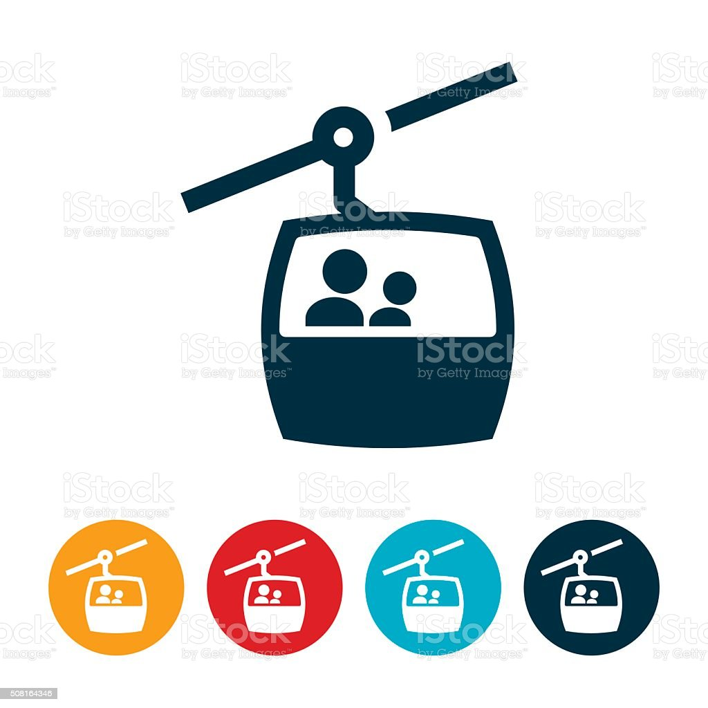 Gondola Lift Icon vector art illustration
