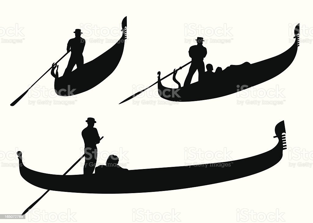 Gondola Vector Silhouette vector art illustration