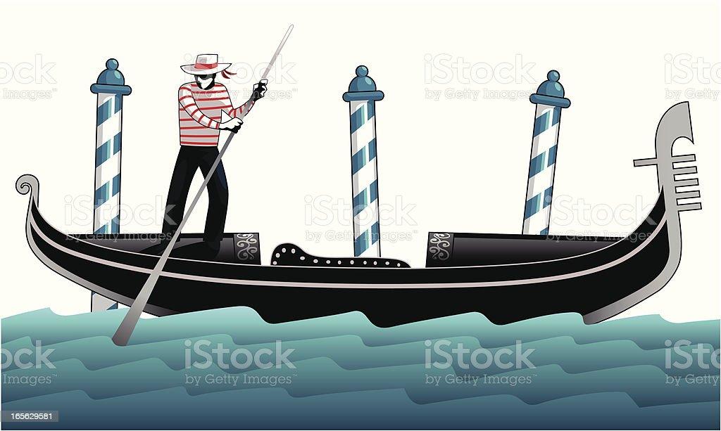 Gondolieri vector art illustration