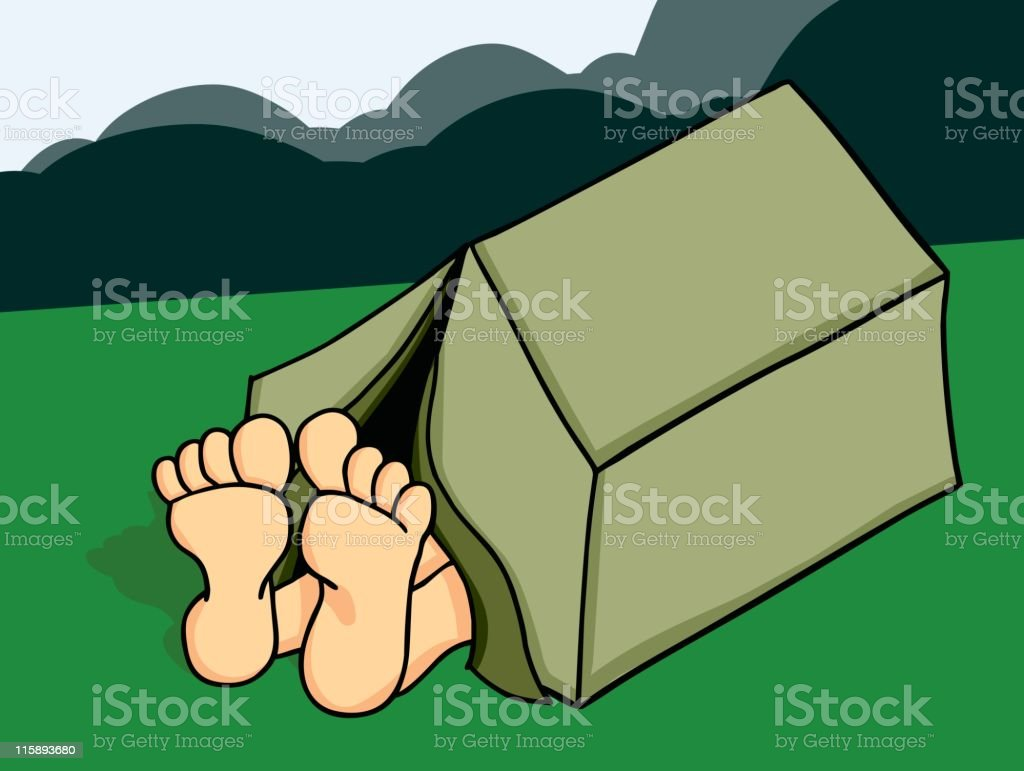 Gone Camping royalty-free stock vector art