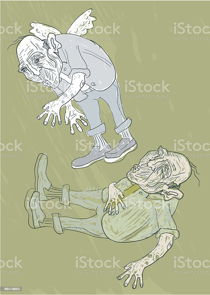 Gone vector art illustration