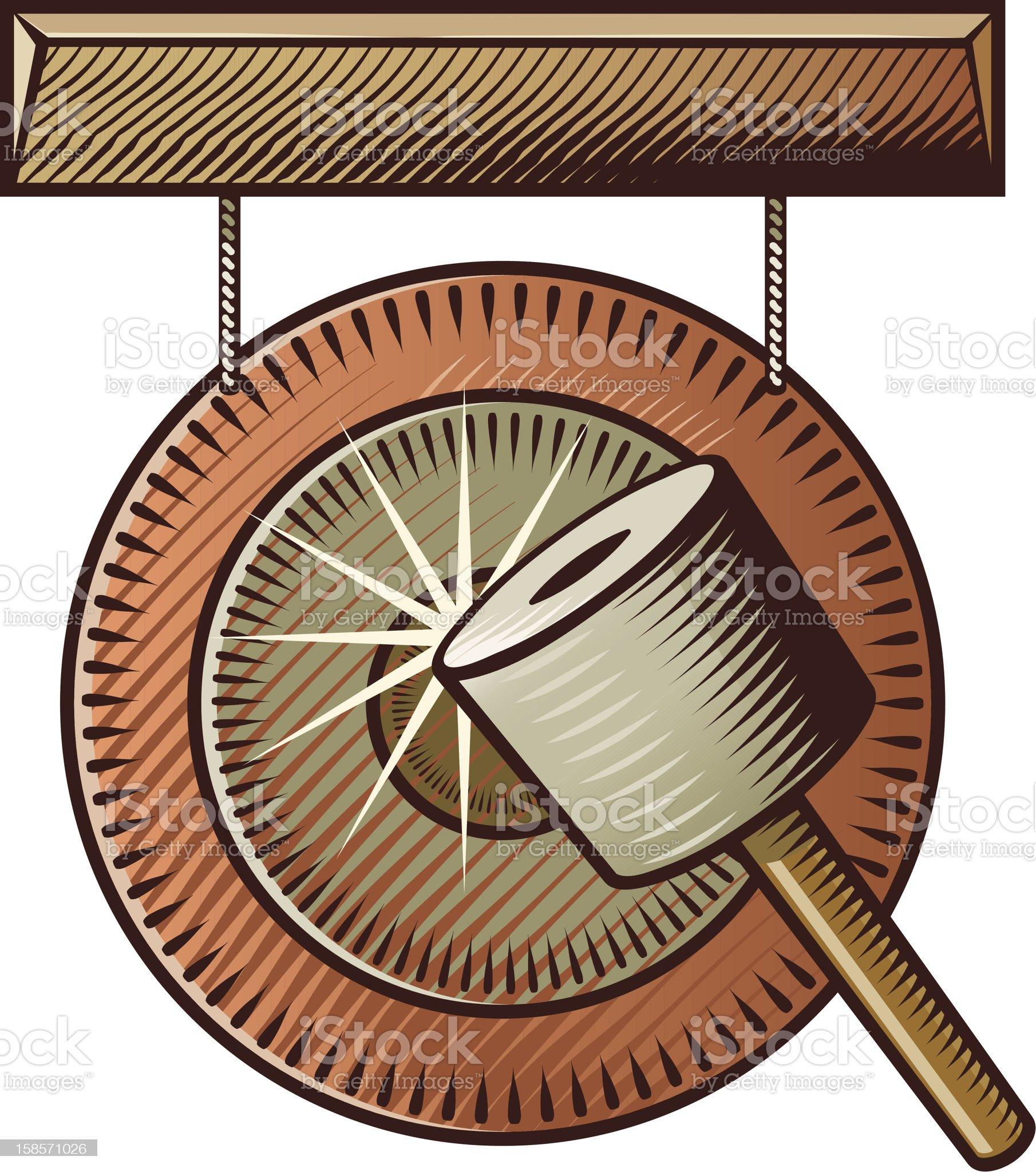Gong royalty-free stock vector art