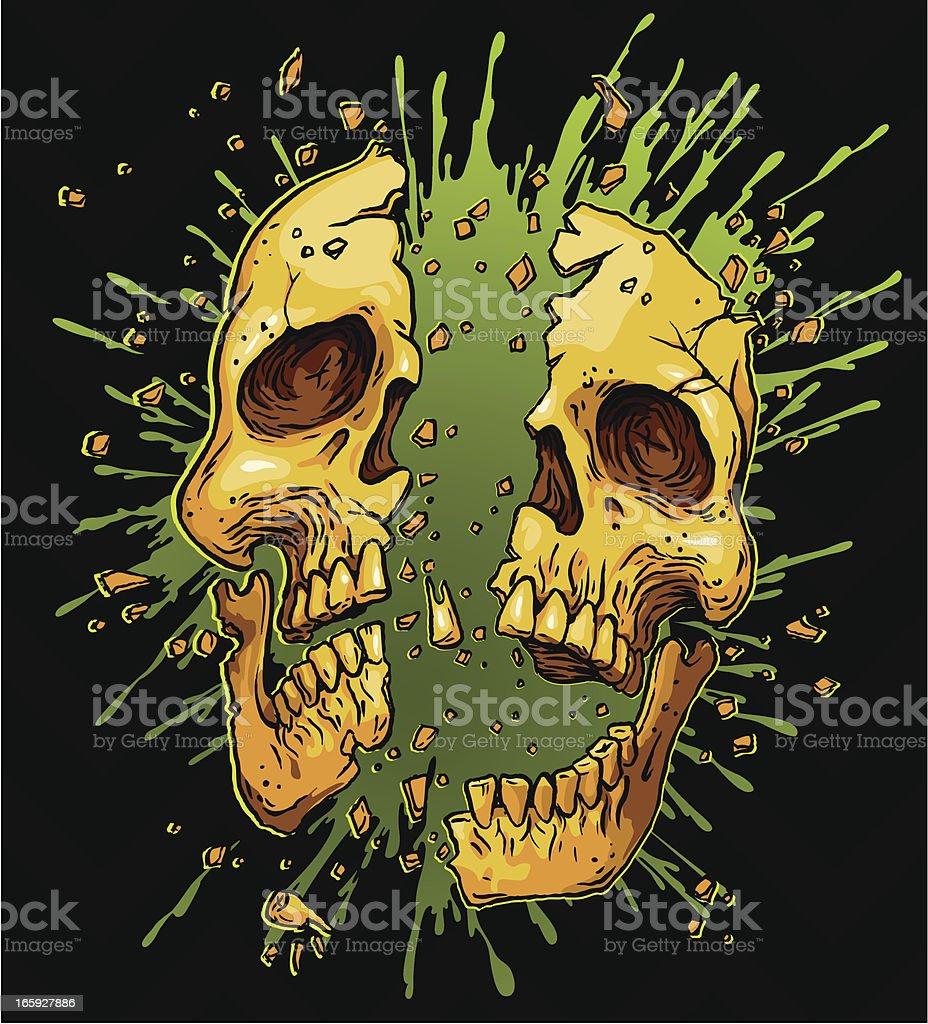 goo splatter exploding skull royalty-free stock vector art