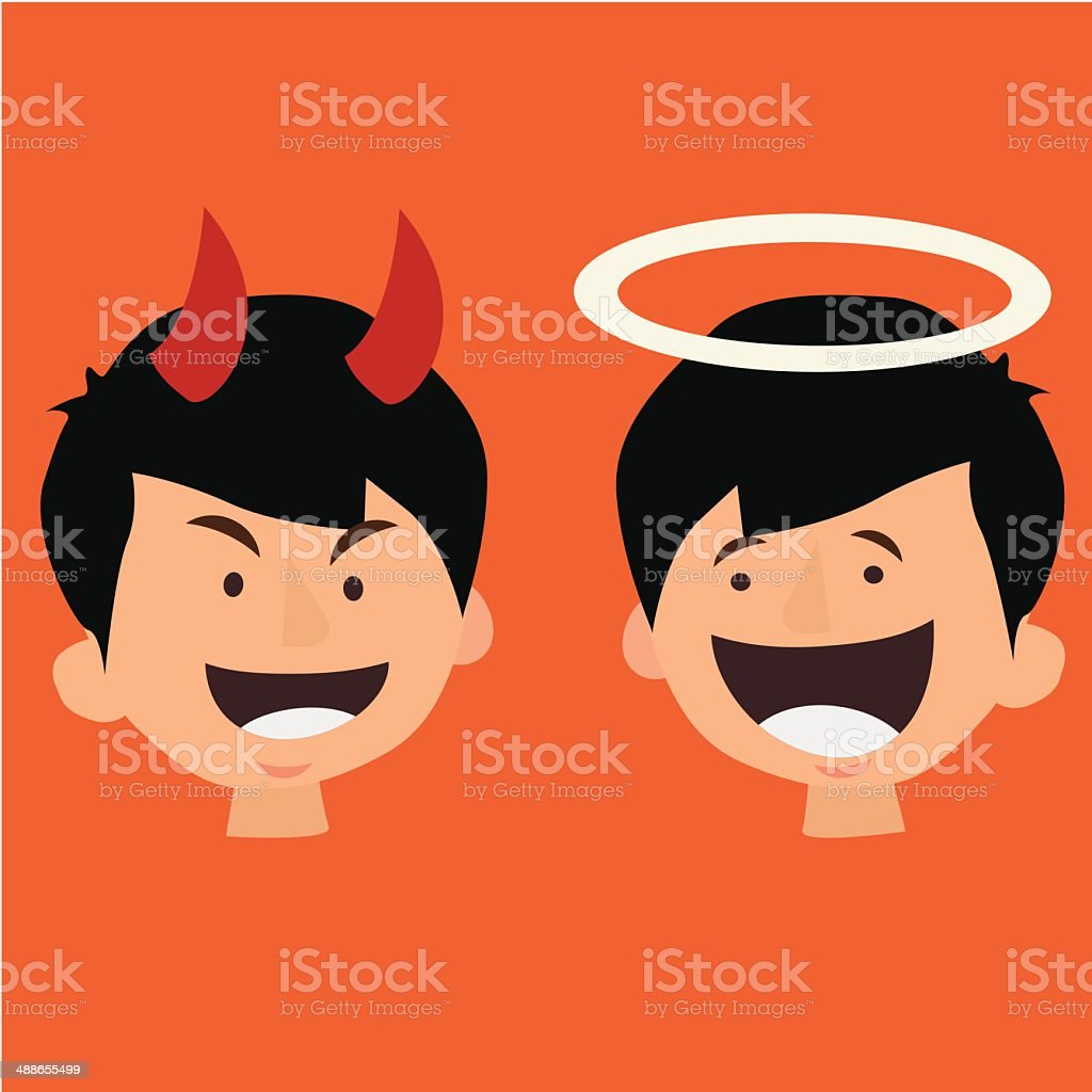 good and bad Behavior, royalty-free stock vector art