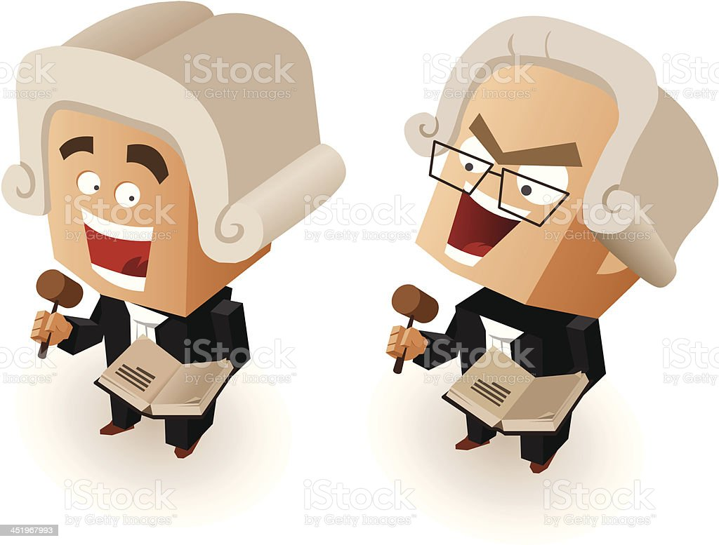 Good and Bad Judge royalty-free stock vector art