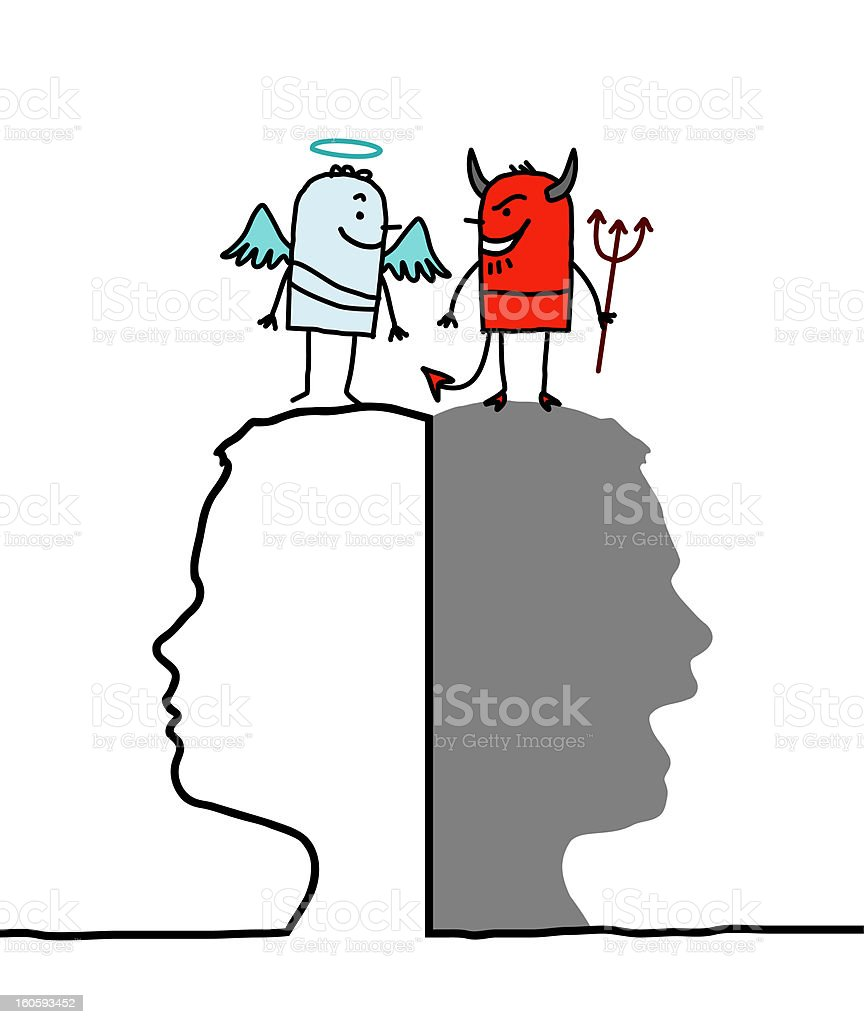 Good and Evil stock photo